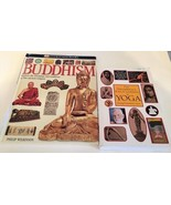 BUDDHISM book illustrated hardcover book and yoga encyclopedia soft cover  - $4.95