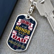 Keychain for Soldier Dad, Personalized Dog Tag Keychain, Key Chain Army Dad - £25.14 GBP+