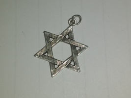 Vintage Sterling Silver Star of David charm  - $17.50