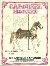 Carousel Horses Cross Stitch Pattern Book Kappie Originals No. 91 Merry ... - $6.99