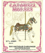 Carousel Horses Cross Stitch Pattern Book Kappie Originals No. 91 Merry ... - $9.99
