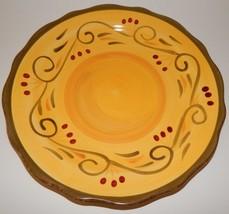 Home Trends Italian Villa Salad Plate Yellow Green Scalloped Edge 6578970 - $19.79
