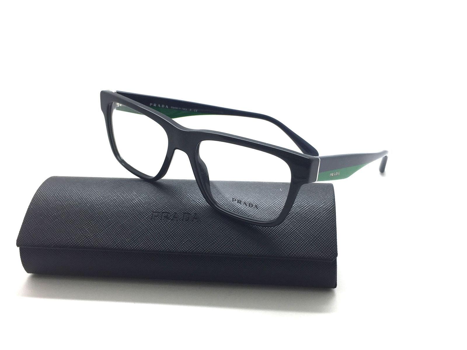 08ddd9d450b Prada VPR 16R 1AB-1O1 Black Blue Green and 50 similar items