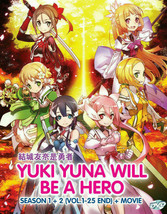 DVD YUKI YUNA WILL BE A HERO Season 1+2 Vol.1-25END+Movie English Sub All Region
