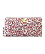 Tory Burch Carter Continental Wallet ~ Keepsake Floral Print ~ Red White... - $114.95