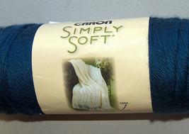 NEW Caron Simply Soft Dark Country Blue 9711 6 oz 170 g 315 yds Knit Yarn H97003 - $14.83
