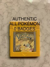 Pokemon Yellow Version Authentic All 151 Game Boy Color 0 Badges - $50.00