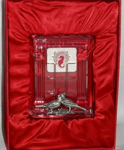 """Love Birds Waterford Crystal """"Our First Christmas Ornament"""" Box & Velvet Bag! - $37.36"""
