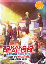 3D Kanojo : Real Girl Season 1+2 Vol.1-24 End + Live Action Movie Ship From USA