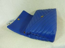 NWT Tory Burch Nautical Blue Kira Chevron Convertible Shoulder Bag image 8