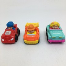 3 Fisher Price Little People in Cars- Dump Truck Race Car Jeep - $10.39