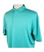 Peter Millar E4 Summer Comfort Polo Golf Shirt Large S/S Mint Green Poly... - $27.99