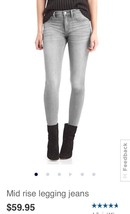 Gap Mid Rise Legging Jeans: 30 Regular - $26.30