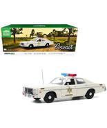 1975 Dodge Coronet Cream Hazzard County Sheriff 1/18 Diecast Model Car b... - $108.17
