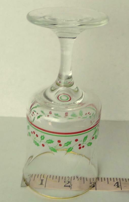 Arbys Arby's Christmas Collection 1985 Glass Holiday Stemware   Vintage image 5