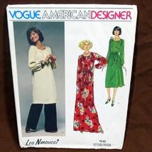 Vtg Vogue Pattern Designer Leo Narducci Sz 10 Uncut FF #1510 Tunic Dress... - $12.99