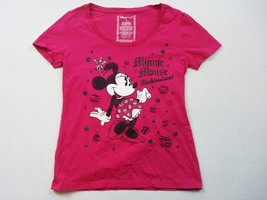 Disney T Shirt Womens Medium Pink Minnie Mouse Fashionista  - $13.33