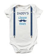 Daddys Little Man One Piece Romper, Bodysuit, Romper (Sizes Newborn - 18... - $11.99+