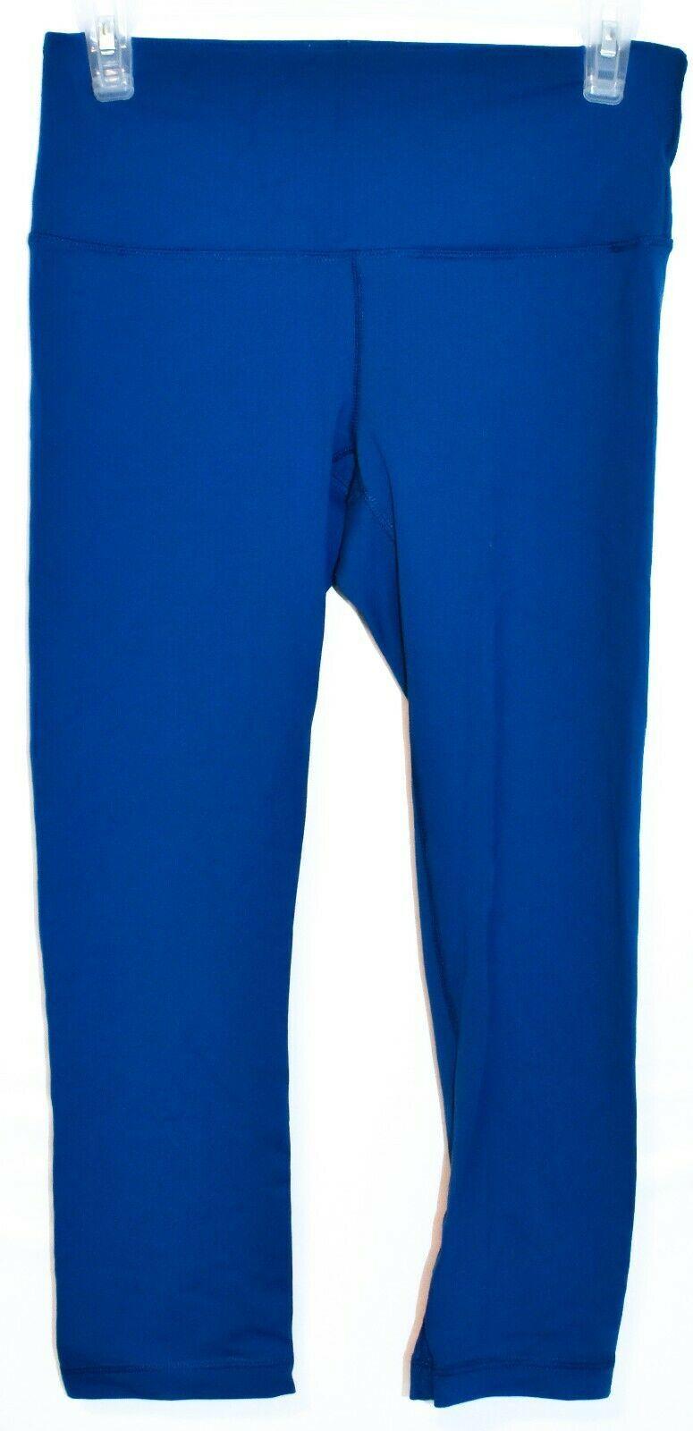 90 Degree by Reflex Royal Blue 3/4 Yoga Workout Pants Leggings Size S