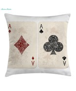Lifestyle Decor Throw Pillow Cushion Cover by Ambesonne, Ace of Diamonds... - $42.08 CAD