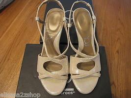 You By Crocs Babasita Oro 10.5 Scarpe in pelle con Cinturini Donna Nuovo ^ - $13.36