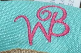 WB M725BURLAP Burlap Zip Pouch Zipper Closure Color Tan image 3