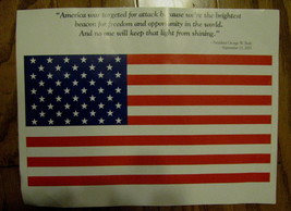 USA Poster september 11,2001 George Bush America was targeted for attack... - $9.88