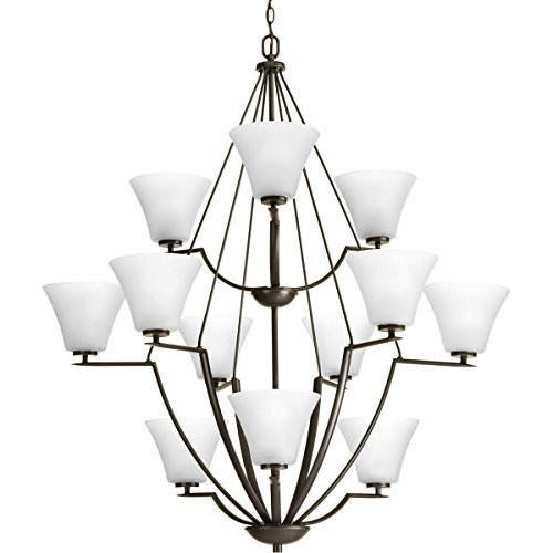Primary image for Progress Lighting P4687-20W Contemporary/Soft 12-100W Med Chandelier, Antique Br