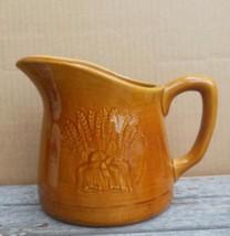 "Vintage Franciscan Golden Wheat Brown Pitcher 5.75""   California USA - $24.00"
