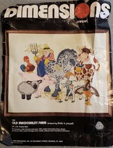 "Dimensions Needlepoint Kit #1182 Old MacDonald's Farm 20"" x 16"" Wool 100... - $23.74"