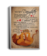 Lion King To My Daughter Never Forget I Love You Portrait Canvas .75in F... - $25.00+