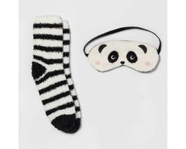 Xhilaration Women's Girl's Cozy Panda Bear Eye Mask & Sock Set Ivory One... - $7.92