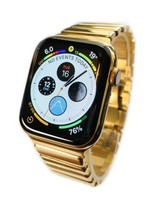 24K Gold Plated 44MM Apple Watch SERIES 4 With DIAMOND Polished Mirror Band - $1,899.00