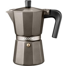 AICOOK Stovetop Espresso Machine, 6 Cups Moka Pot, and Coffee Maker for ... - $19.59