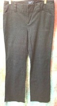 GAP Stretch Casual dress Pants size 6 Curvy Fit Flare Charcoal gray prin... - $1.99