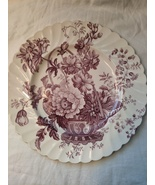 "Vintage Royal Staffordshire Clarice Cliff Charlotte Purple 10"" Dinner Plate - $21.00"