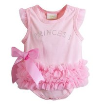Little Princess Baby Girl Bodysuit Infant Onesies Toddler One-piece Romper PINK