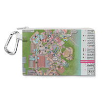 Hollywood Studios Map Canvas Zip Pouch - $15.99+