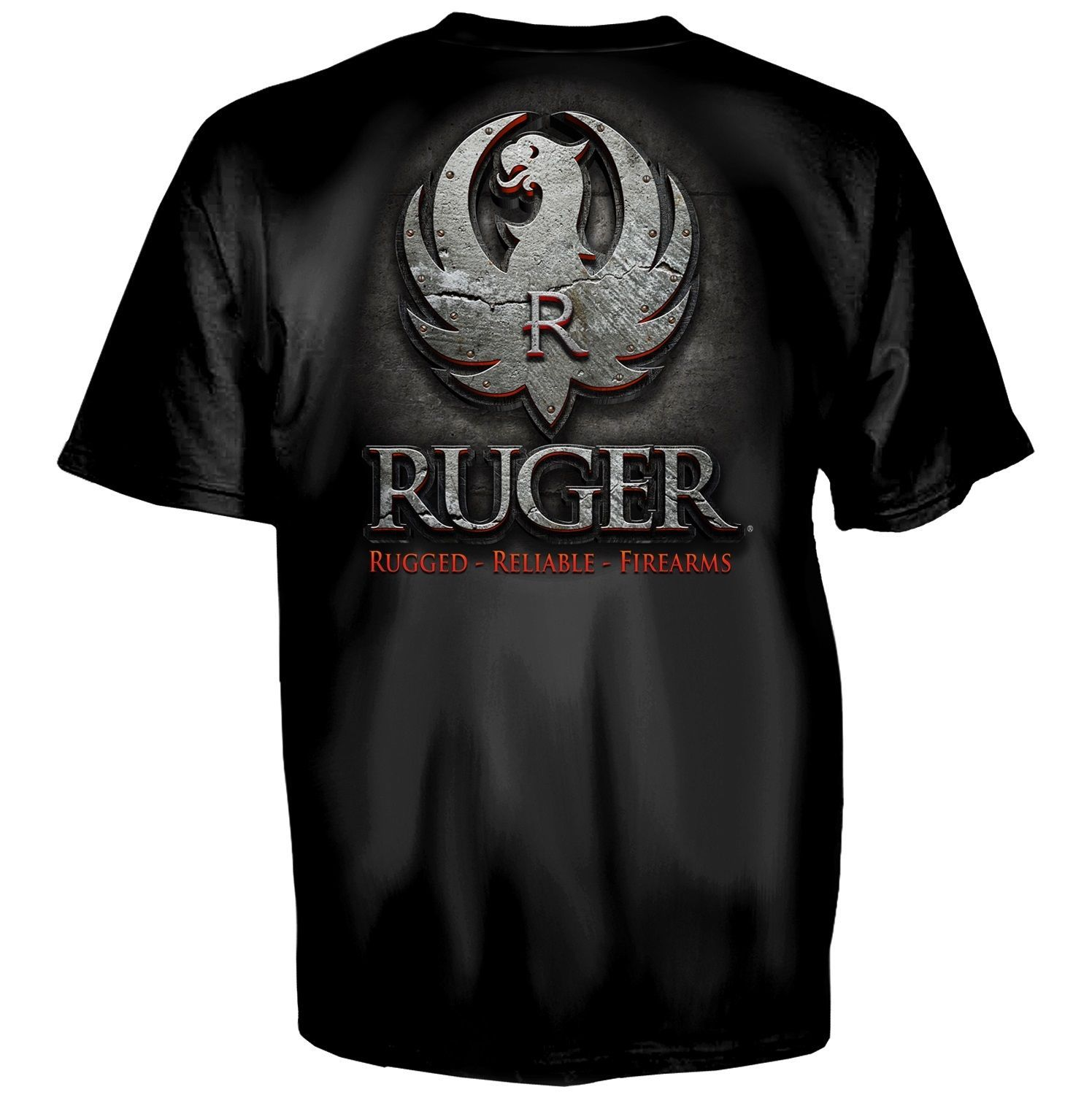 RUGER FIREARMS METAL LOGO EAGLE AMERICA FLAG GUN MILITARY MENS T TEE SHIRT S-3XL for sale  USA
