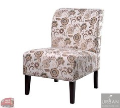 Floral Accent Chair Living Room Upholstered Armless Seat Home Office Bed... - $140.58