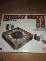 Vintage Michigan Rummy E.S. Lowe co. NO.66 1970 new in box - $19.75