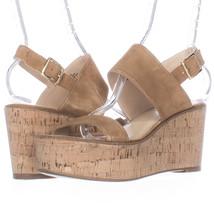 Steve Madden Caytln Platform Wedge Slingback Sandals, Cognac, 10 US Used - $20.15