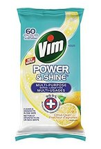 Vim Power & Shine Wipes Lemon Antibacterial 6 packs of 60 Canadian Made - $79.99