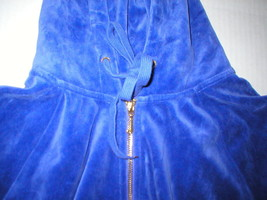 New Womens M Juicy Couture Velour Hoodie Purple Jacket Pretty M Bright Relaxed image 2
