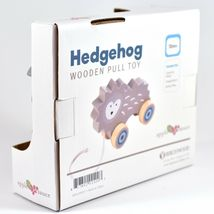 Applesauce Hedgehog Baby Wooden Pull Toy for Toddlers Children Ages 12+ Month image 3