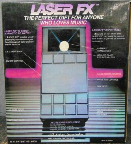 Vintage Portable Laser FX Music Laser Show DJ Light Made in Korea IOB Box