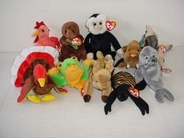 Lot of 10 Ty Beanie Baby Babies Plush 1995 to 2000 - $19.70