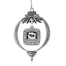 Inspired Silver Peeking Panda Classic Holiday Decoration Christmas Tree ... - $14.69
