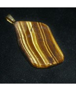 Tigereye Pendant 80ct golden stone gold colored bail - $39.60