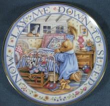 Royal Doulton Teddy Says His Prayers Fine Bone China Collector Plate England COA - $17.95